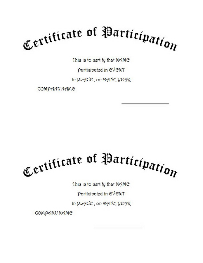 Certificates Word Templates With Clip Art U0026 Wording  Certificate Word Template