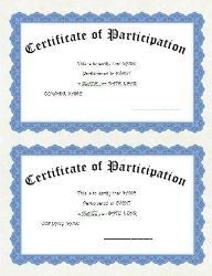 2 UP Certificate Clip Art 1 U0026 Wording  Certificate Word Template