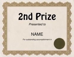 2nd Prize Award Clip Art U0026 Wording