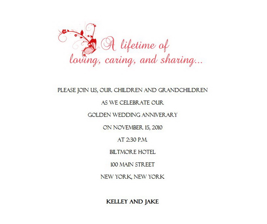 Wedding free suggested wording by theme geographics 50th wedding anniversary invitations wording 2 stopboris Choice Image