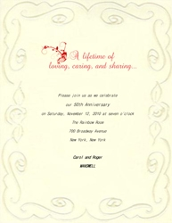 Wedding Anniversary Templates With Wording