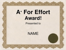 Awards free templates clip art wording geographics a plus for effort award clip art 2 wording yelopaper Image collections