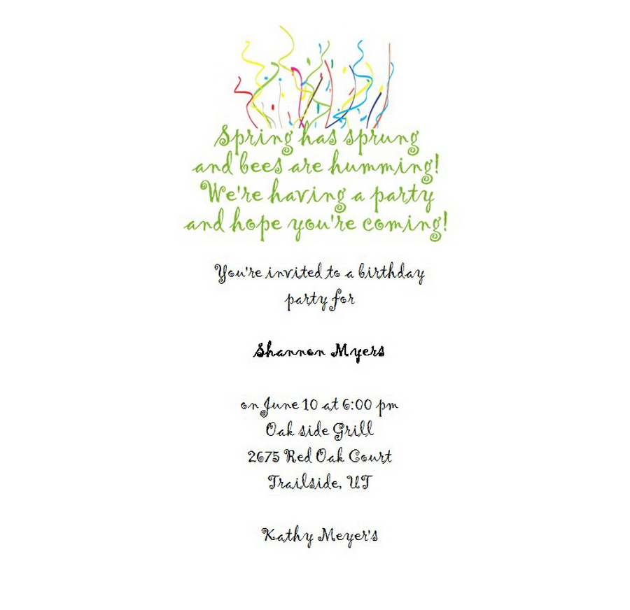 Adults 21st Birthday Invitation Wording 10