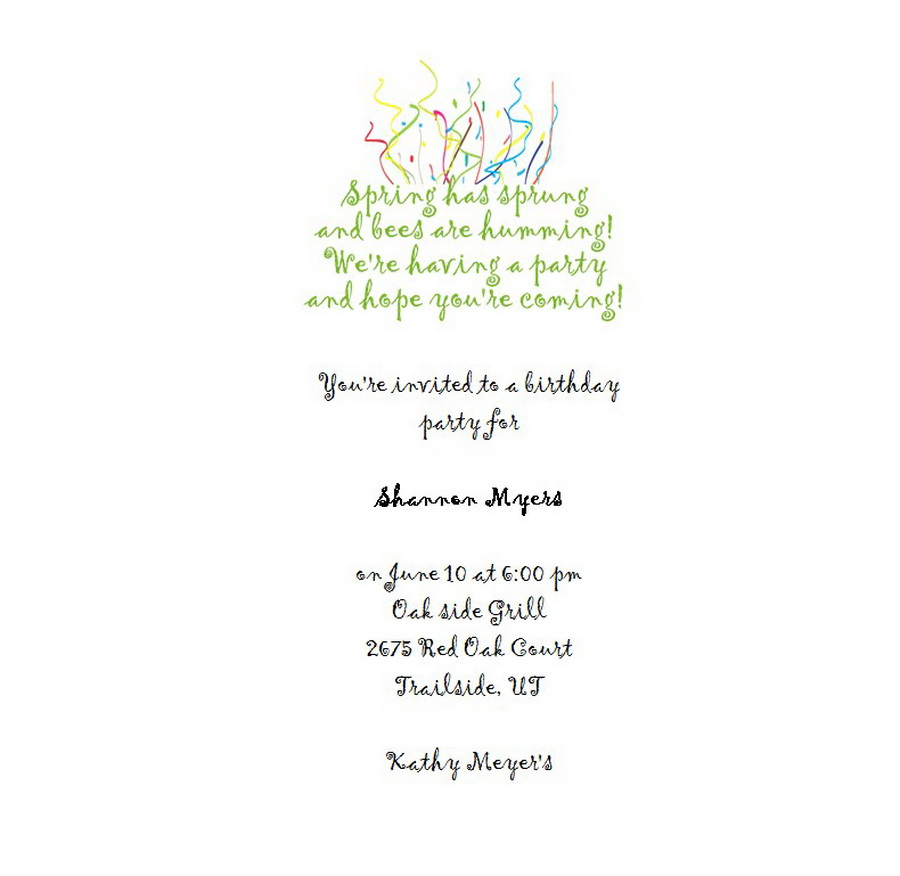 Adult\'s 21st Birthday Invitation 3 Wording | Free Geographics Word ...