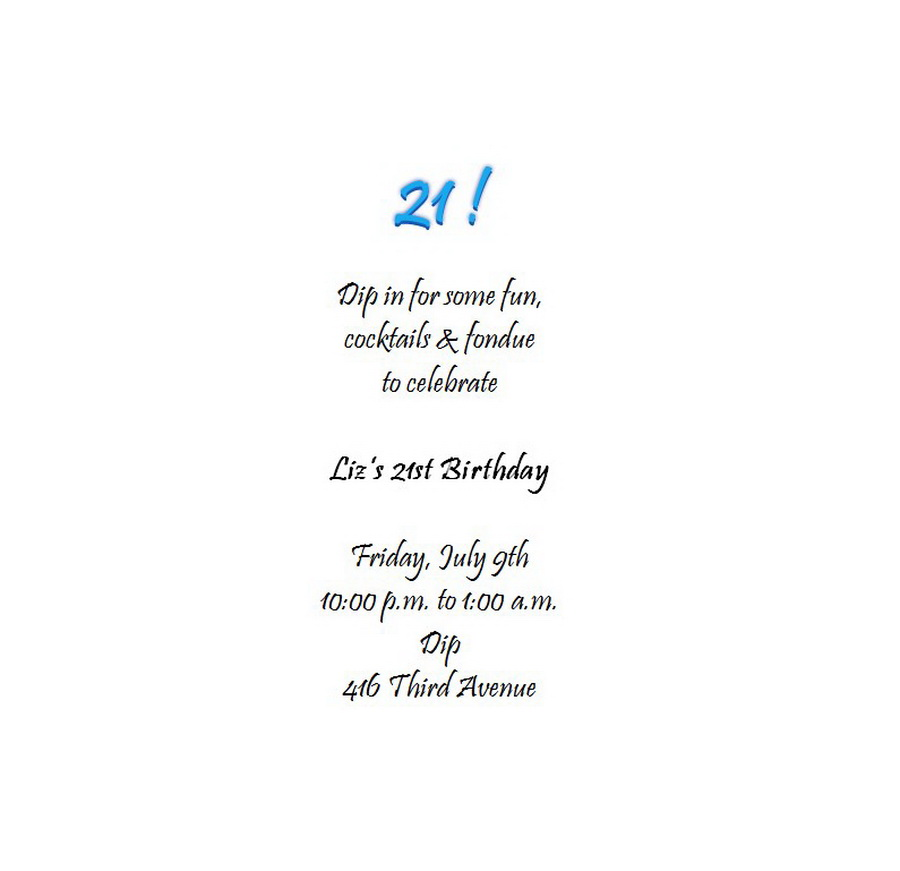 Adults 21st Birthday Invitation Wording 6