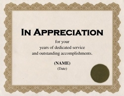 Geographics.com  Certificate Of Appreciation Words