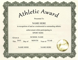 Award certificates diploma word templates clip art wording athletic award clip art wording yelopaper Image collections