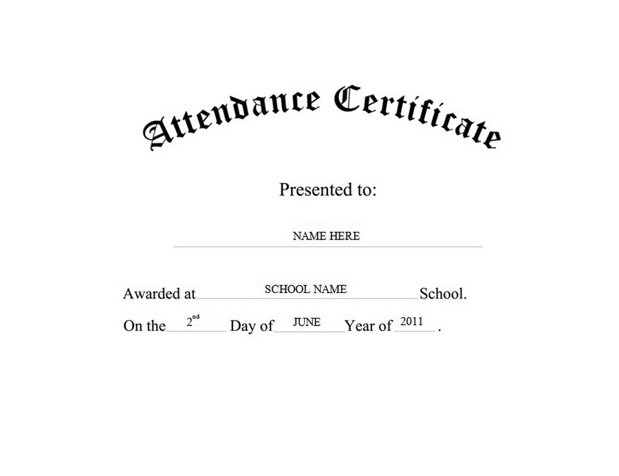 Attendance Certificate Free Templates Clip Art Wording Geographics
