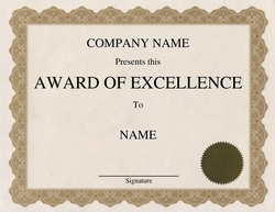 Geographics.com  Excellence Award Wording