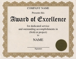 High Quality Award Of Excellence Clip Art 2 U0026 Wording Intended For Excellence Award Wording