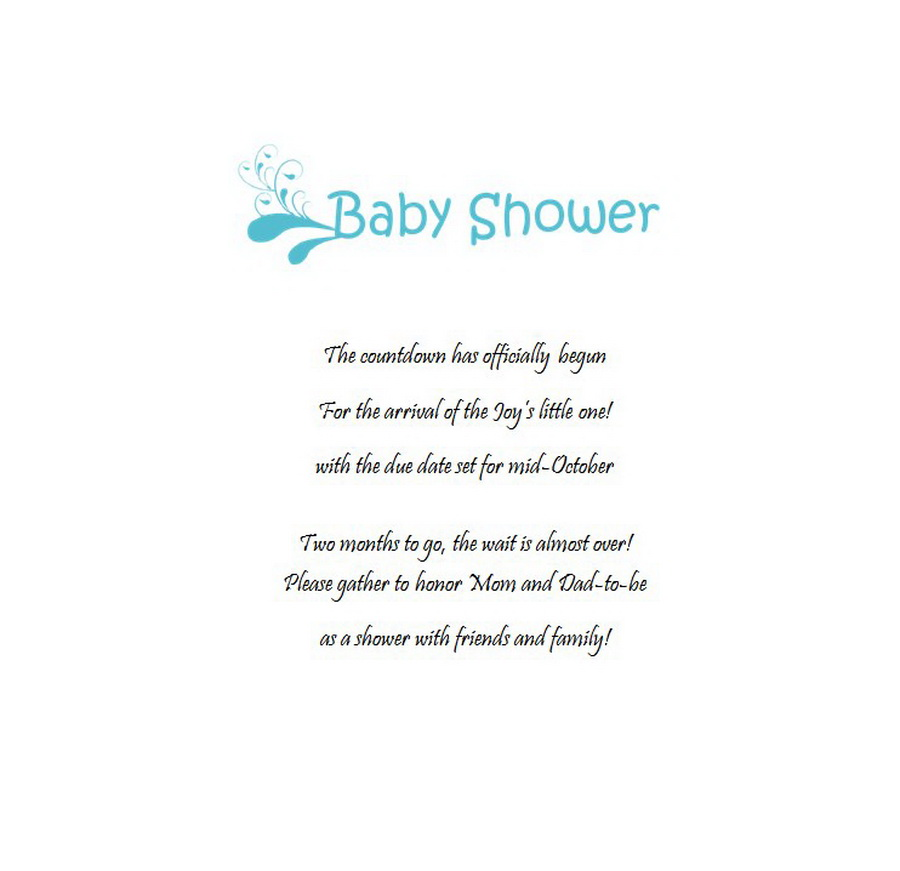baby shower friends hosting announcements wording 13