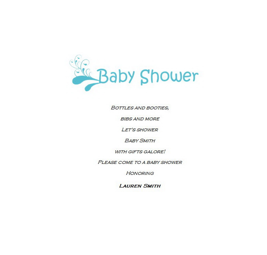 Baby Shower Friends Hosting Announcements 3 Wording Free Word