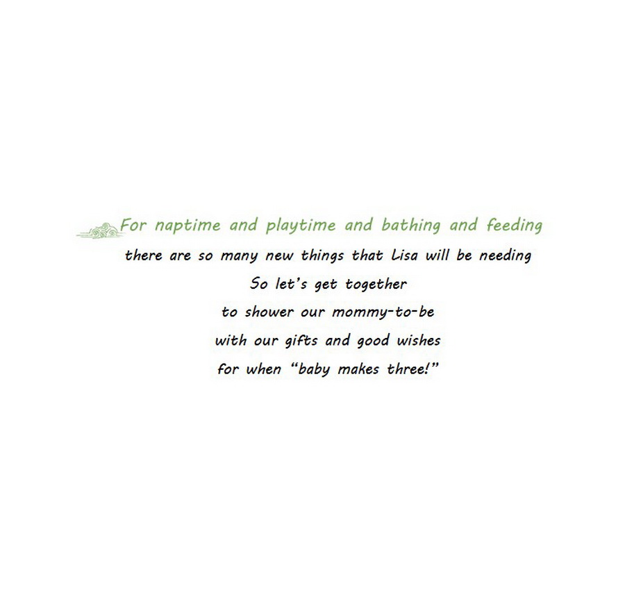 Baby Shower Friends Hosting Announcements Wording 9