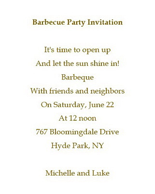 barbecue party invitations wording free geographics word templates