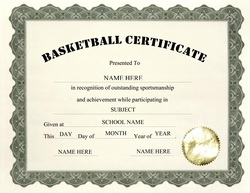 Awards certificates free templates clip art wording geographics basketball certificate clip art wording yadclub Images