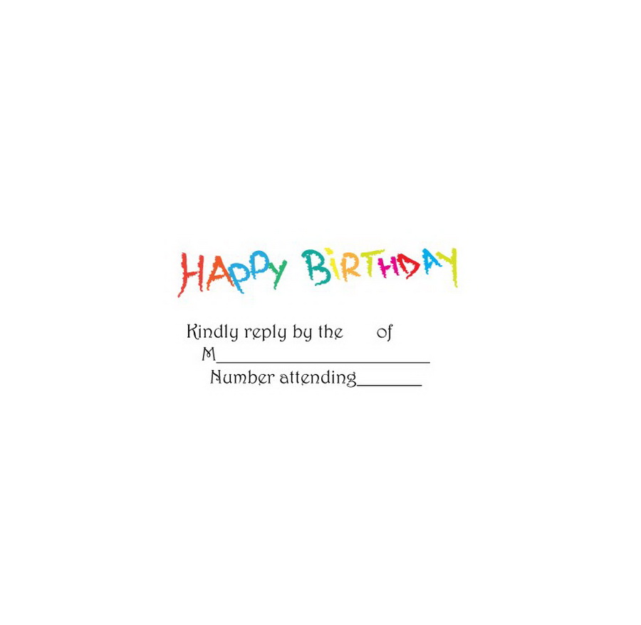Rsvp Reply Wording For Birthday Selol Ink
