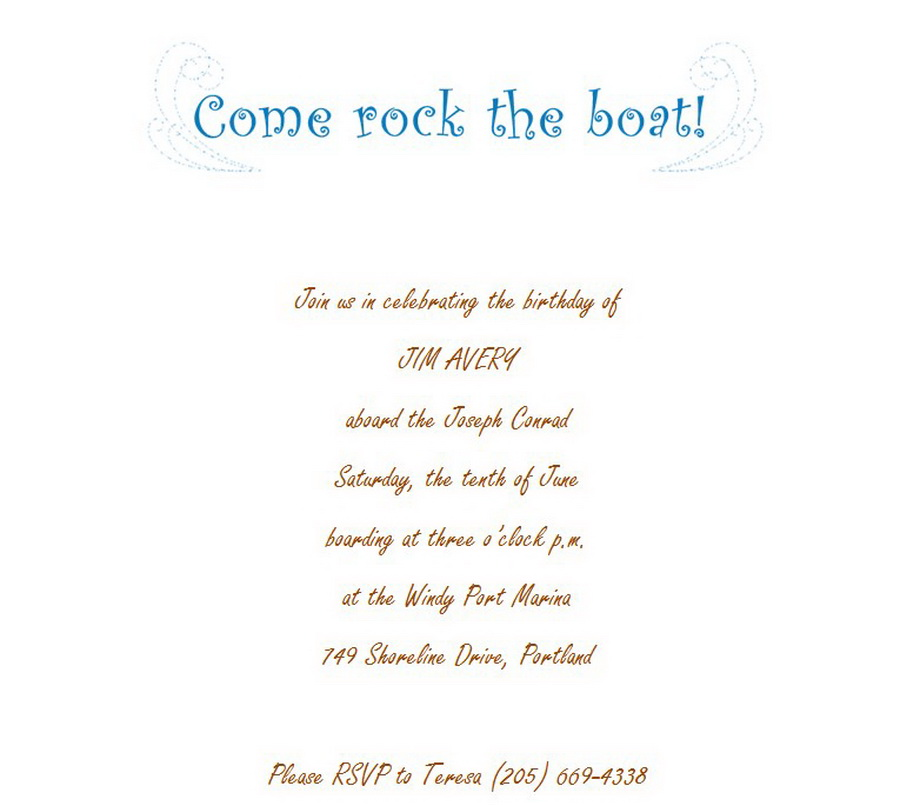 Party | Free Suggested Wording by Theme | Geographics
