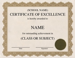 Award Certificates Diploma Word Templates | Clip Art Wording |Geographics  Excellence Award Certificate Template