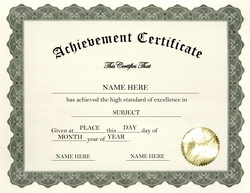Certificate Of Achievement Clip Art U0026 Wording  Certificate Of Achievement Template