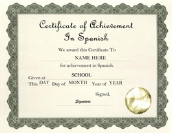 Awards certificates free templates clip art wording geographics certificate of achievement in spanish clip art wording yadclub Images