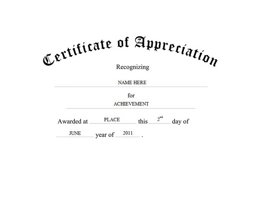 thank you certificate template word