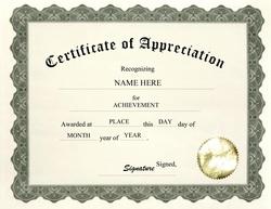 certificate of appreciation clip art wording