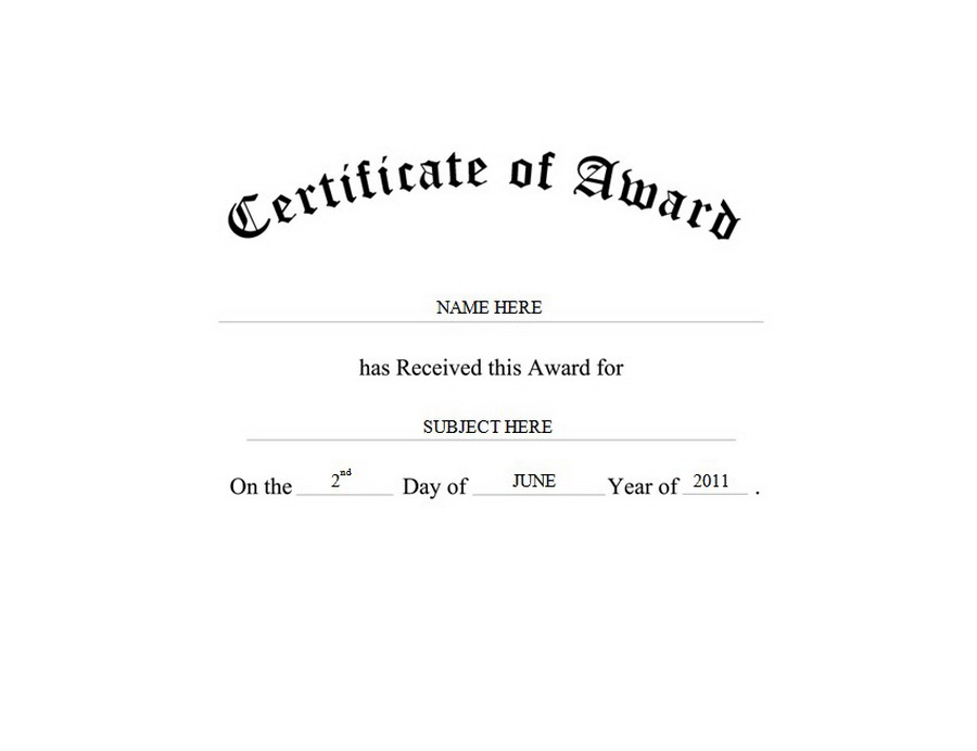 Certificate Of Award Free Templates Clip Art Wording Geographics