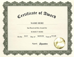 certificate of award clip art wording - Art Award Certificate Template