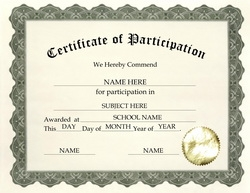 Certificate Of Participation Clip Art U0026 Wording  Certificate Of Participation Template