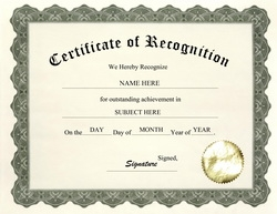certificate of recognition clip art wording