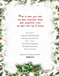 Christmas Invitations Free Template.Free Wording By Holiday Geographics Printable Stationery