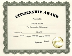 Award certificates diploma word templates clip art wording citizenship award clip art wording yadclub Image collections