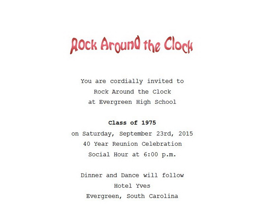 class reunion program template - class reunion invitation 1 wording free geographics word