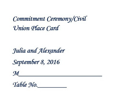 Commitment Ceremony | Free Suggested Wording by Theme | Geographics