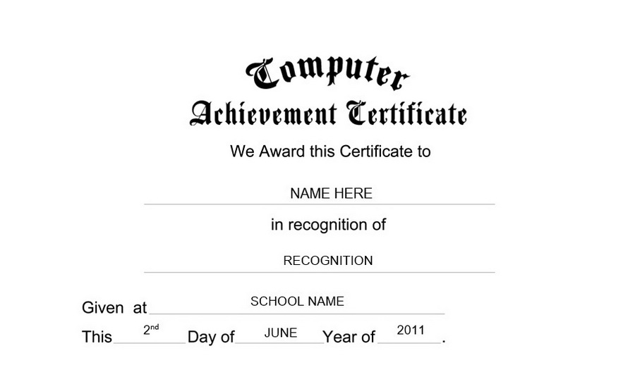 Computer achievement certificate free templates clip art wording computer achievement certificate clip art wording yadclub Image collections