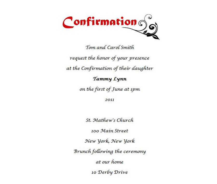 Confirmation invitation 6 wording free geographics word templates confirmation invitation wording 6 flashek Gallery