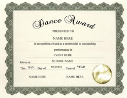 dance award templates  Awards | Free Templates Clip Art