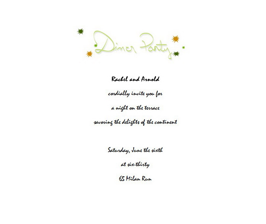 dinner party invitation 3 wording free geographics word templates