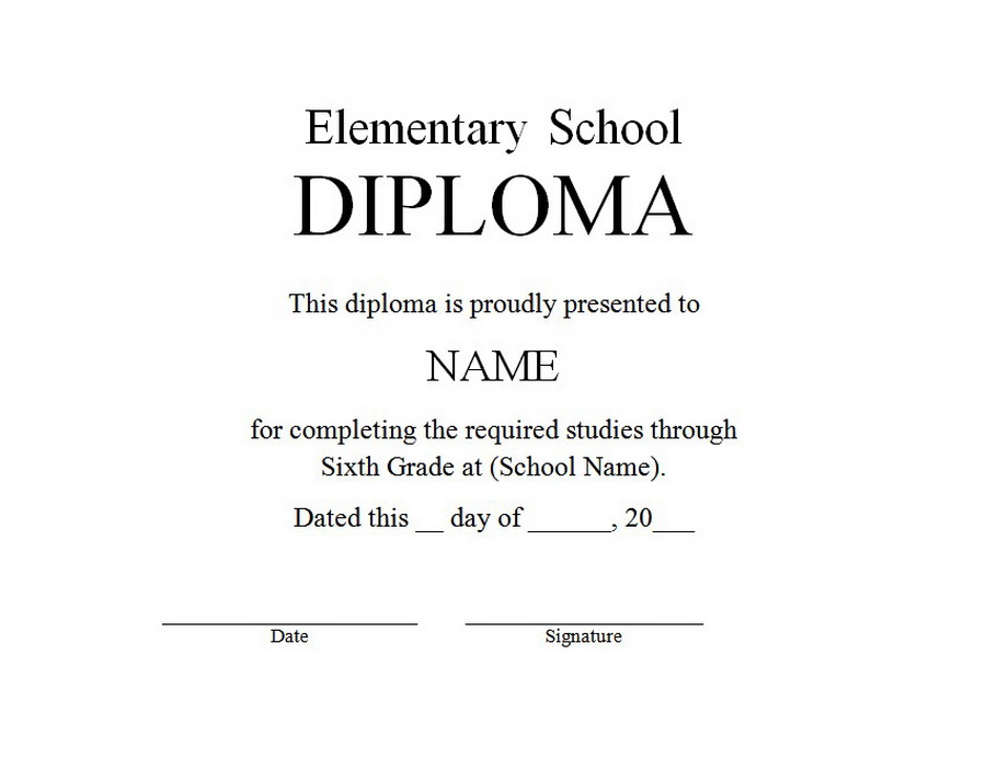elementary school diploma clip art 1 wording