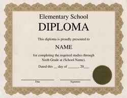 Diploma free templates clip art wording geographics elementary school diploma clip art 1 wording yelopaper Image collections