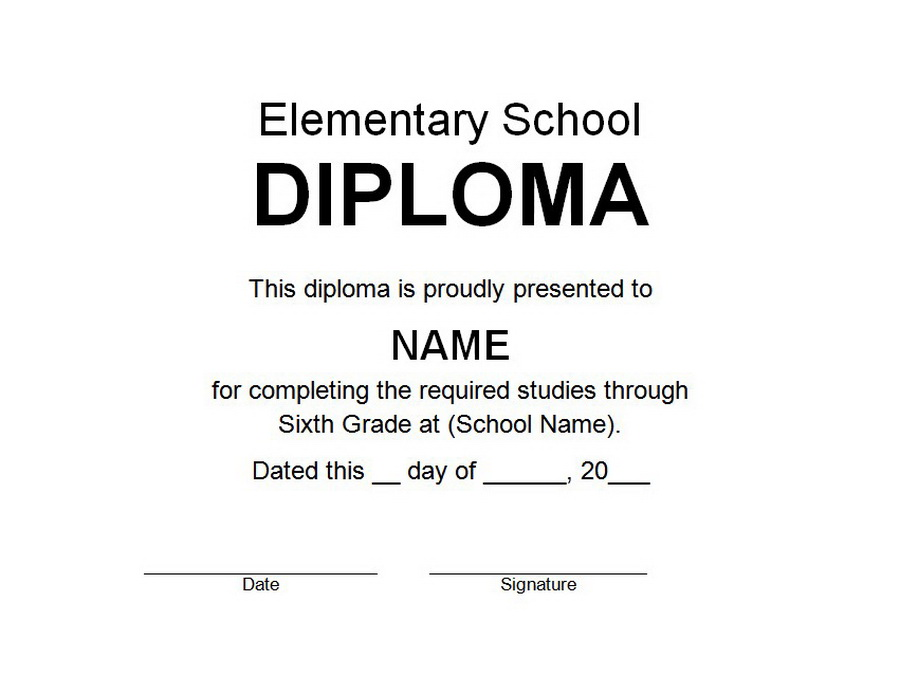 Elementary school diploma 2 free word templates customizable wording elementary school diploma clip art 2 wording yadclub Image collections
