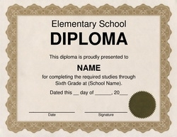 Diploma free templates clip art wording geographics elementary school diploma clip art 2 wording yelopaper Image collections