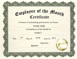 Employee of the month certificate templates sogol employee of the month certificate templates awards certificates free templates yadclub Images