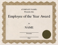 Employee of the year certificates northurthwall employee of the year certificates employee of the year certificatereference letters words yelopaper Choice Image