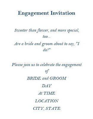 Engagement Invitation Wording By Groom