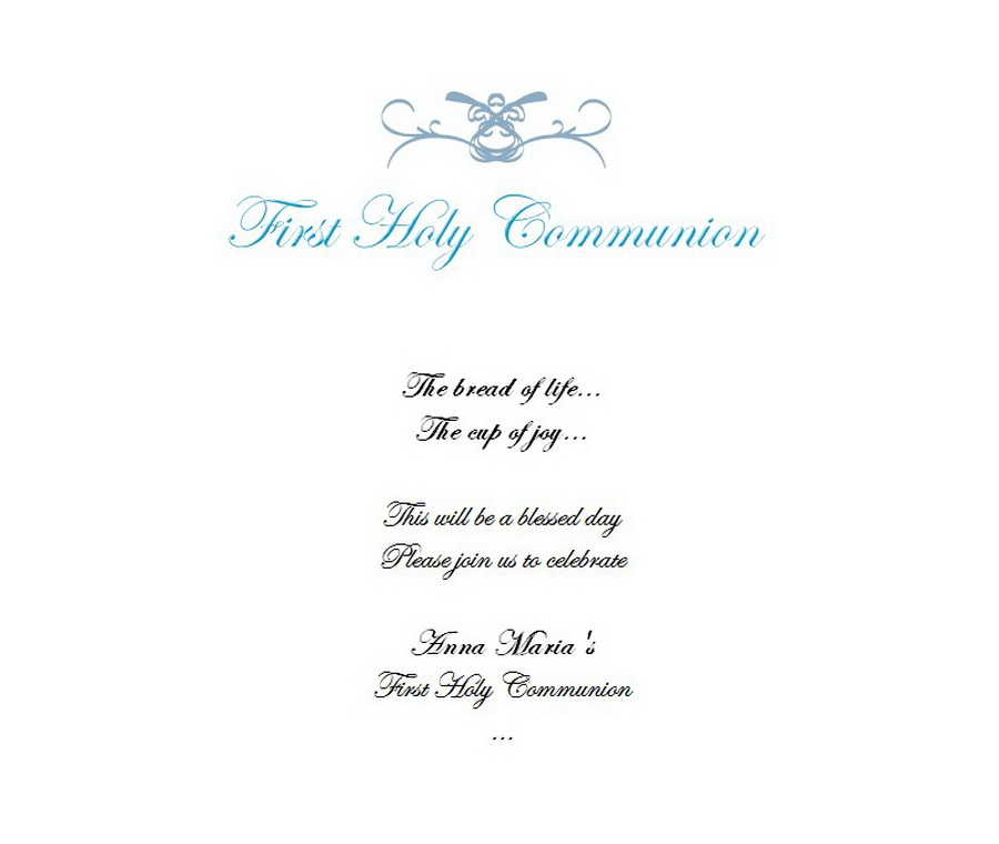 first communion invitations wording 4