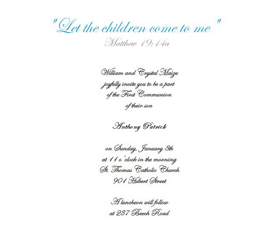 first communion invitations wording 5