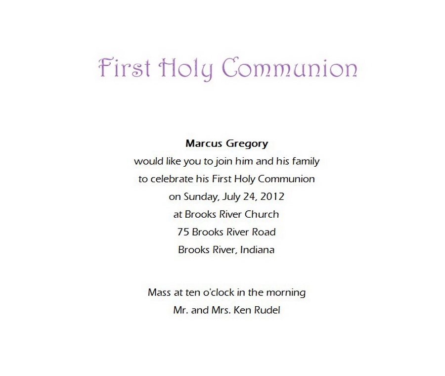 first communion invitations wording 7