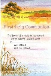 First Communion Response Cards Wording 1