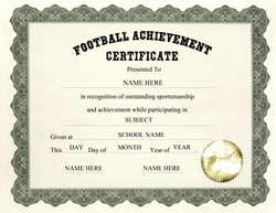 Football for Soccer award certificate templates free